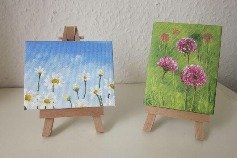 Acrylmalereizart-besaitet-Blumen