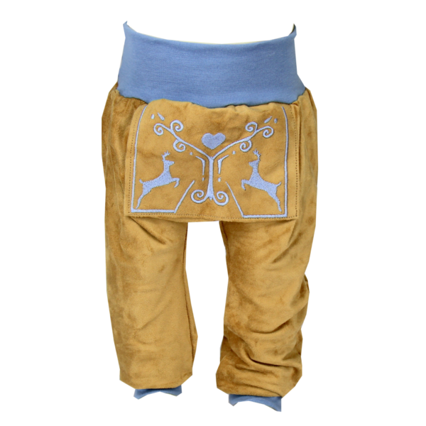 Lederhose-beige-hellblau-front