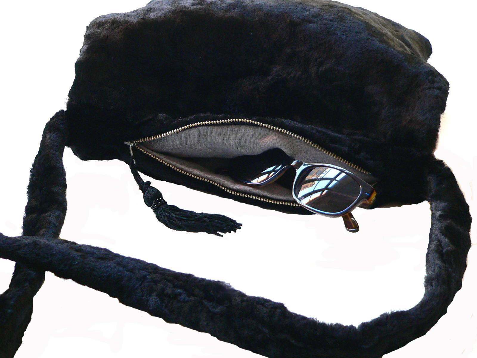 Muff-schwarz-Kunstfell